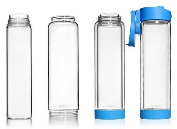 Glasstic BPA-Free glass water bottle